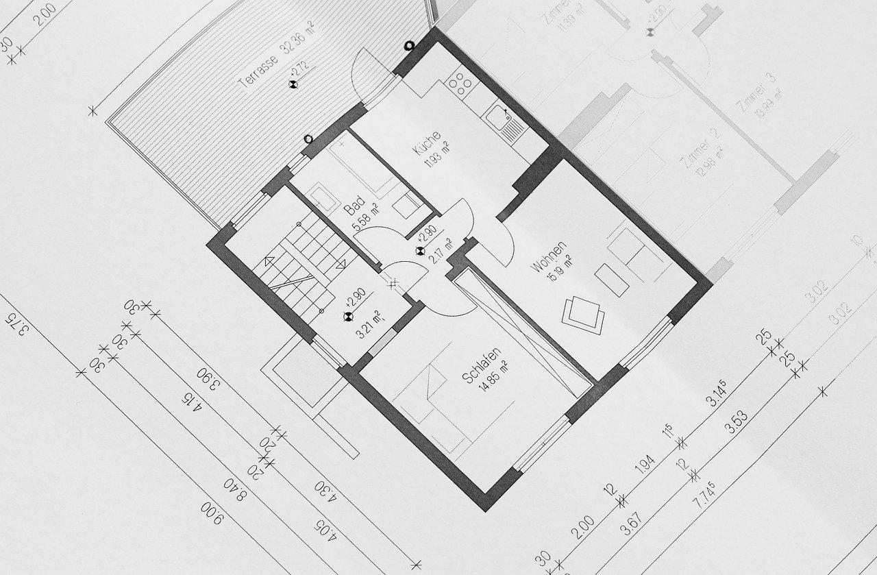 plan d'architecture maison