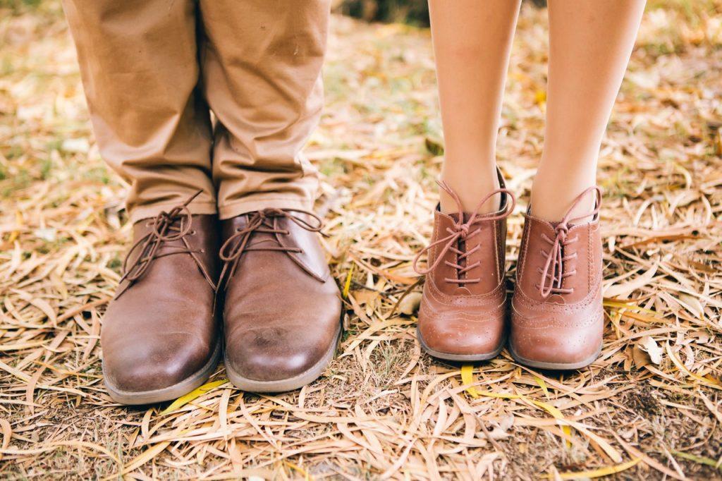 Chaussures homme et femme en cuir
