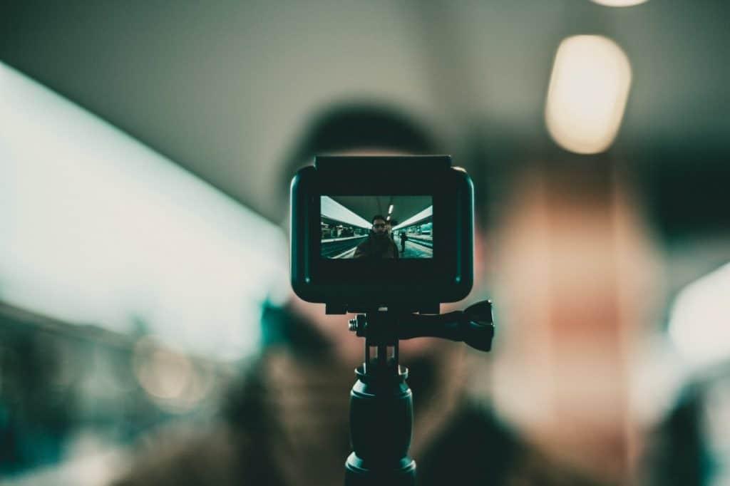 Une Gopro en selfie