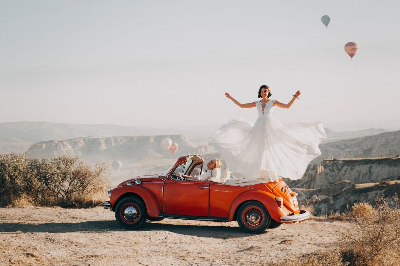 Mariage en voiture à Goreme
