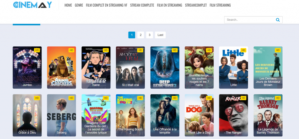 Site de streaming Cinemay