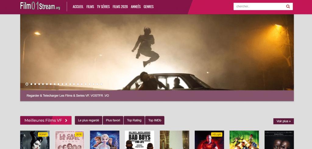 Site de streaming Film 01stream
