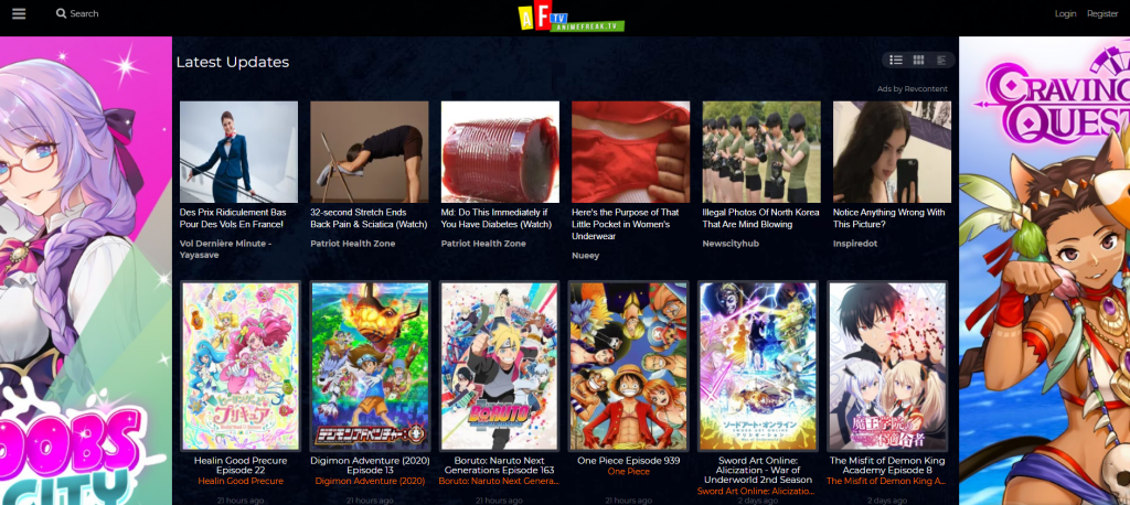 Site de streaming Animefreak.tv