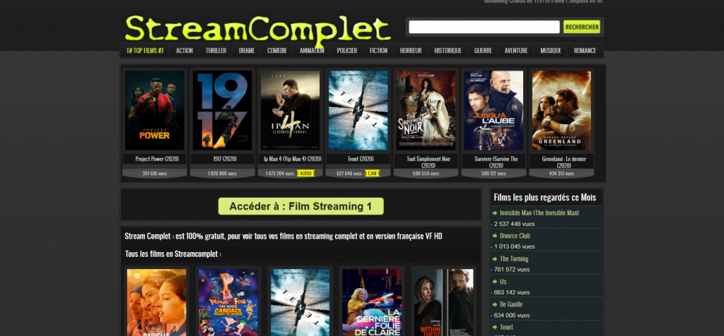 Site de streaming Streamcomplet