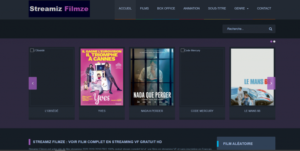 Site de streaming Streamiz HD