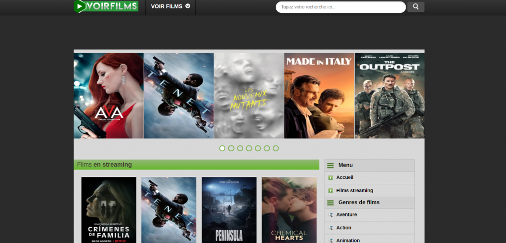 Site de streaming Voirfilm
