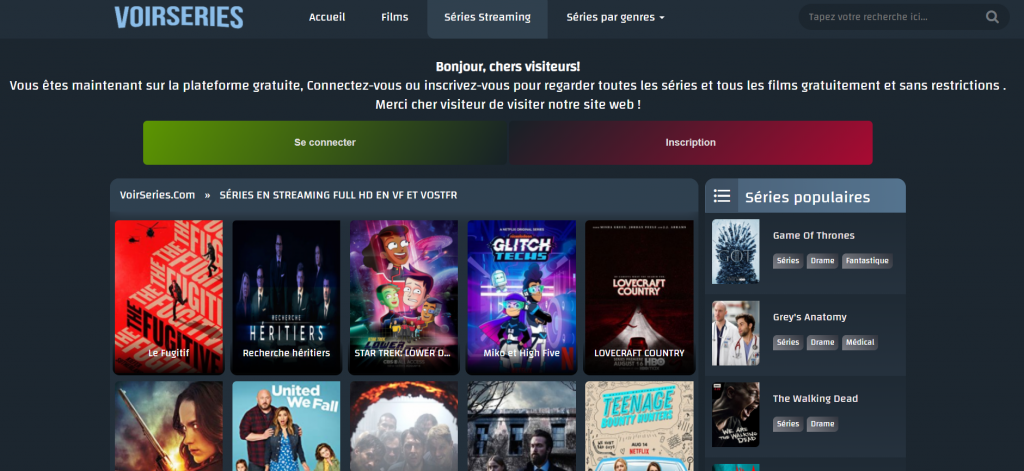 Site de streaming Voirserie
