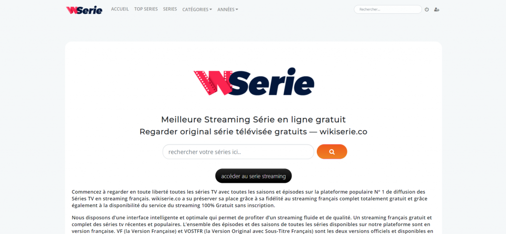 Site de streaming Wikiserie