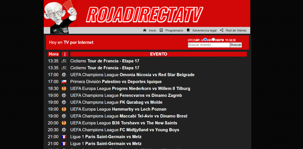 Site de streaming foot rojadirecta