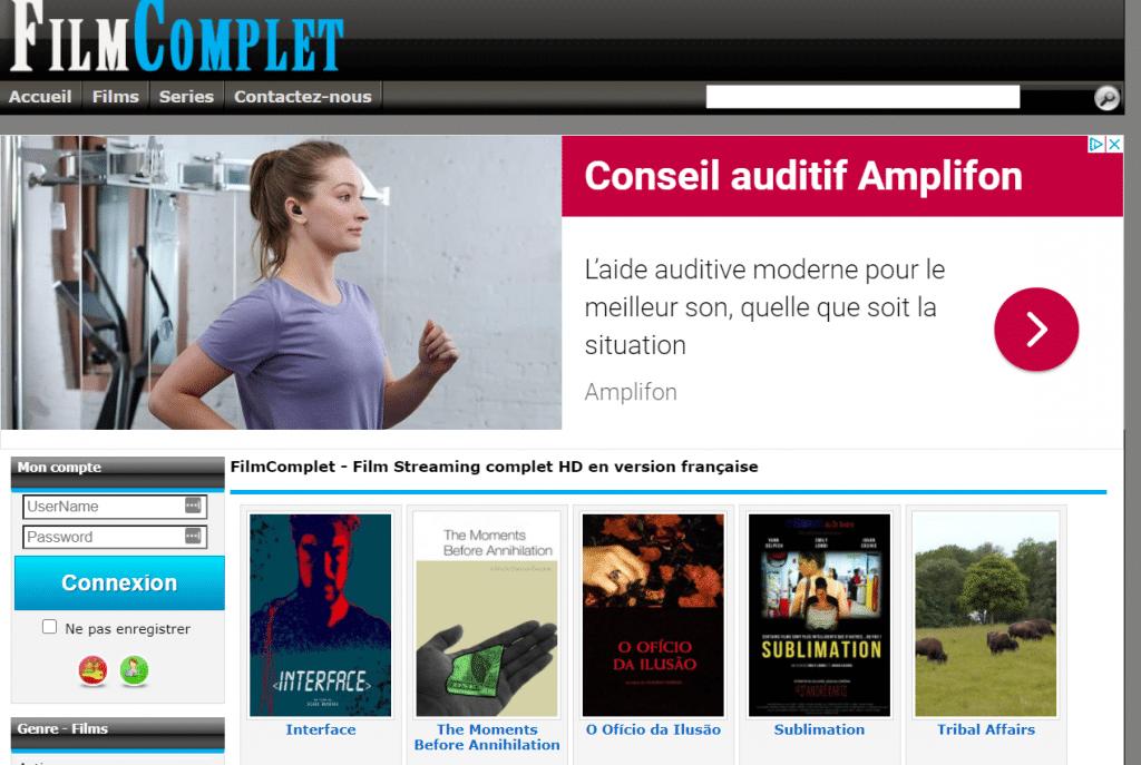 Site de streaming FilmComplet