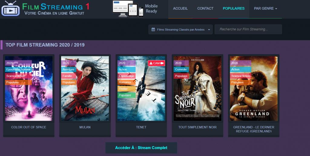 Site de film streaming filmstreaming1