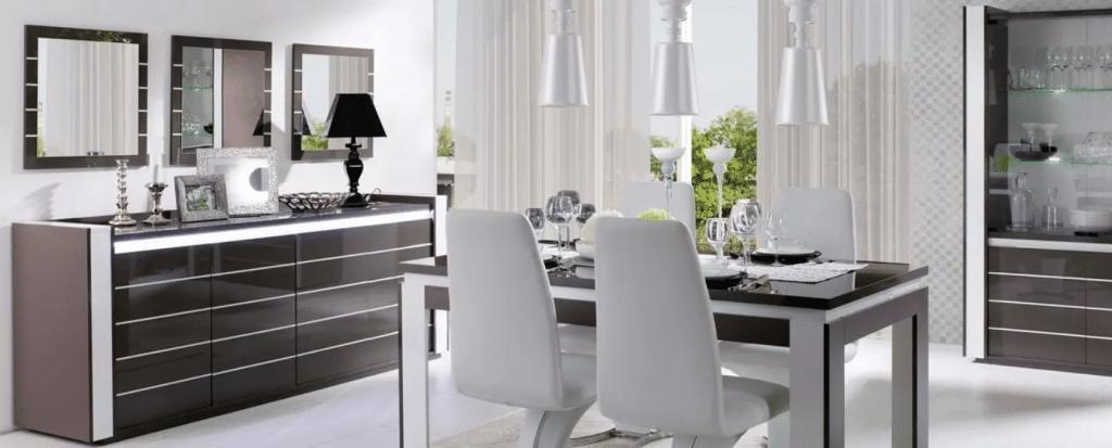 Salle à manger complète au style design