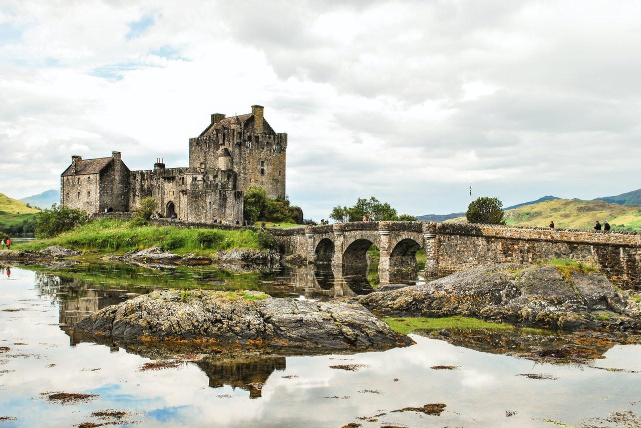 Château ancien, ruine Écosse