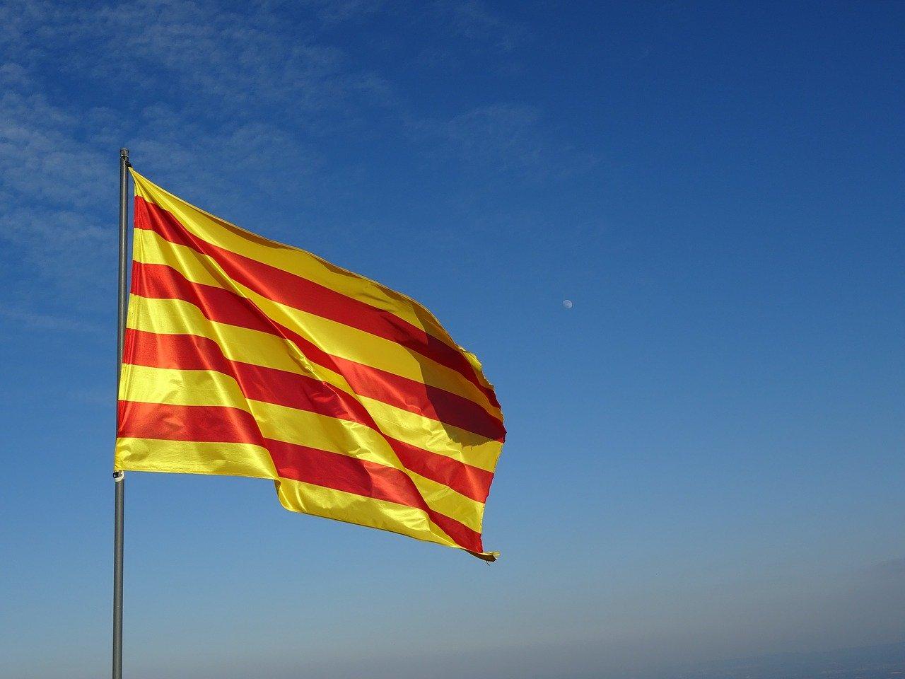 Drapeau Catalan rayé jaune et rouge
