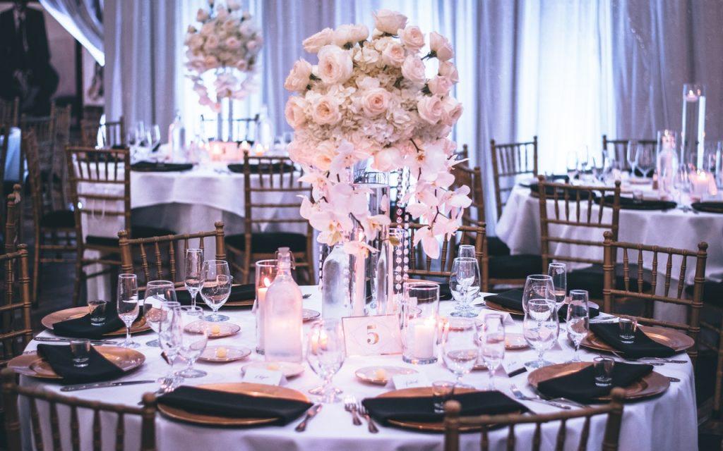 Table d'honneur, cérémonie de mariage