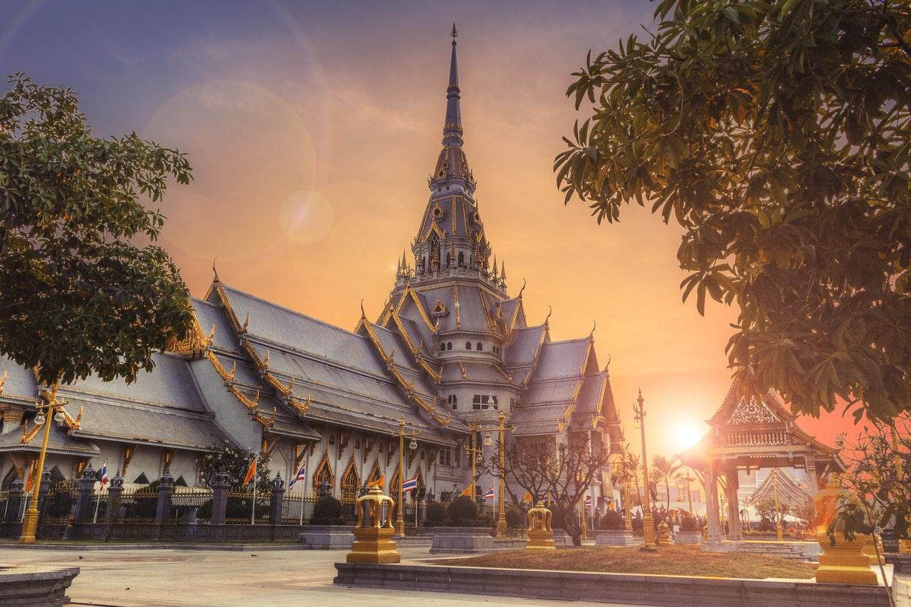 Temple thaïlandais, paysage asiatique