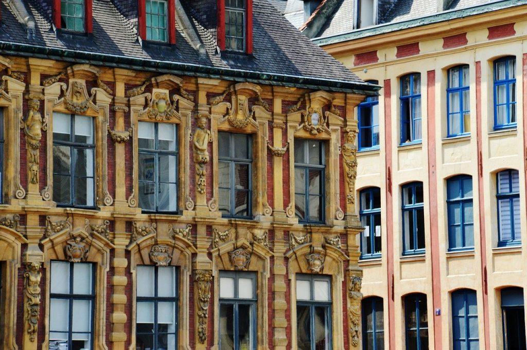 bâtiùent de la ville de Lille au nord de la France