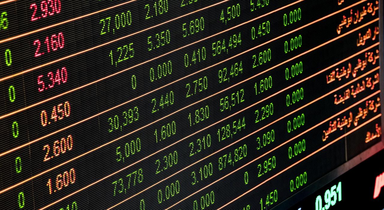Tableaux de données chiffrées provenant de bourses