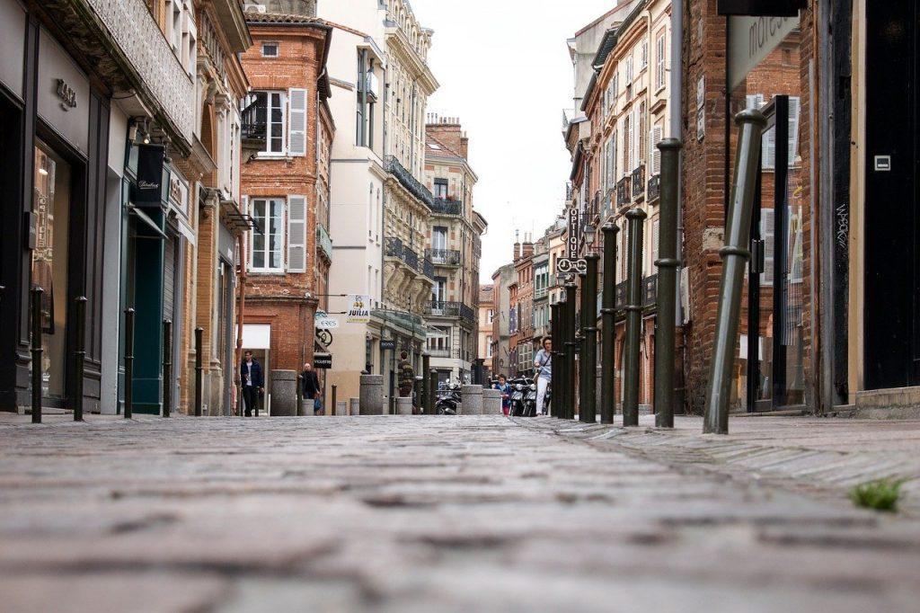 Rue piétonne de la ville de Toulouse en France