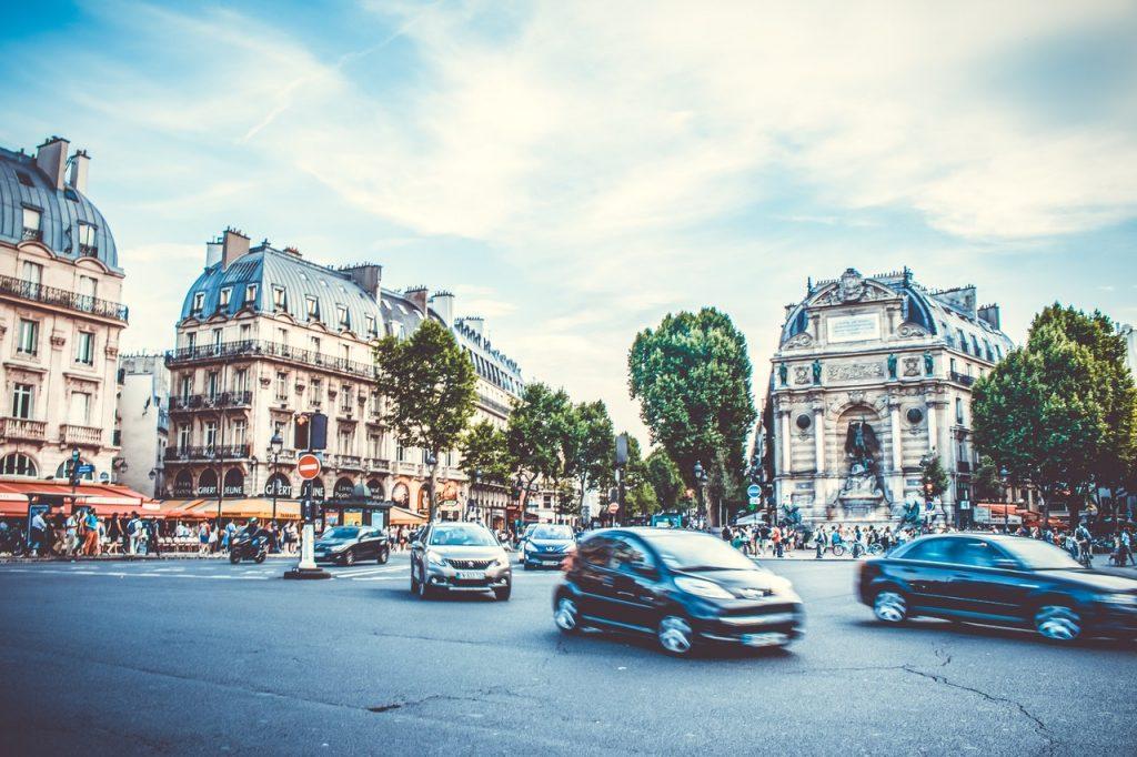 Circulation dans la ville de paris